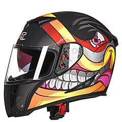 남자 GXT의 g358 오토바이 전기 자동차는 더블 렌즈 안티 안개 전체 헬멧