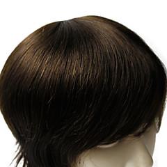billiga Peruker och hårförlängning-6 * 8inch män tupén god kvalitet mänsklig jungfru håret rakt