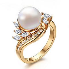 preiswerte -Ring Perle Kubikzirkonia Perle Zirkon Kubikzirkonia vergoldet Gold Schmuck Hochzeit Party Alltag Normal 1 Stück