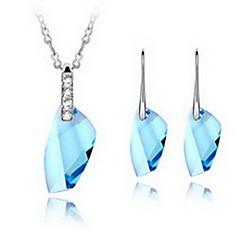 baratos Conjuntos de Bijuteria-Mulheres Cristal Conjunto de jóias - Incluir Azul / Azul Claro / Lavanda Para Festa