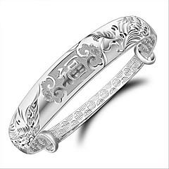 Браслеты Браслет цельное кольцо Стерлинговое серебро Любовь Мода День рождения Обручение Свадьба Для вечеринок Новогодние подарки