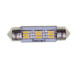 billige Interiørlamper til bil-SENCART 2pcs 39mm Bil Elpærer 3W SMD 3014 180-220lm 9 utvendig Lights