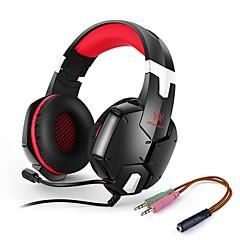 billiga Headsets och hörlurar-KOTION EACH G1200 Över örat / Headband Kabel Hörlurar Piezoelektricitet Plast Mobiltelefon Hörlur Ljudisolerande / mikrofon / Med