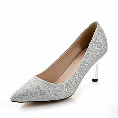 Damen-High Heels-Hochzeit Büro Kleid Lässig Party & Festivität-Kunststoff PU-Stöckelabsatz-Komfort Neuheit-Silber Gold