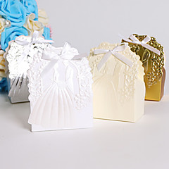 Creative Card Paper Favor Holder With Ribbons Favor Boxes-25