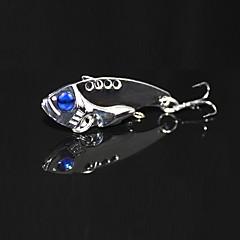 3 pcs crank bait sharp metal VIB lure treble hook bait golden/silver fishing hard lure