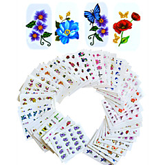 1set 55pcs Nail Art autocolant Decals de transfer de apă machiaj cosmetice Nail Art Design