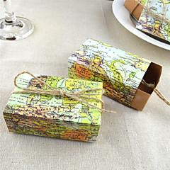 ieftine Favoruri Nuntă-50pcs harta lumii caseta de bomboane caseta de nunta caseta de consumabile