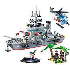 820 Sets zum Selbermachen Bausteine Spielzeuge Spielzeuge Kriegsschiff Schiff Jungen 614 Stücke
