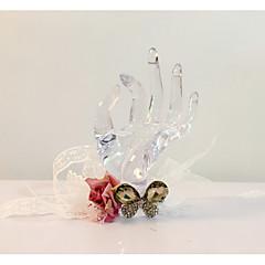 """Flori de Nuntă Legat Manual Formă liberă Corsaj de mână Nuntă Petrecere / Seară Dantelă Ștras 14.57""""(Approx.37cm)"""