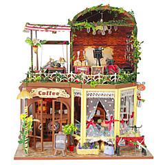 역할 놀이 DIY 키트 인형의 집 장난감 광장 성 집 나무 1 조각 크리스마스 생일 어린이날 선물