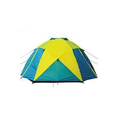 5-8 personer Telt Dobbelt camping Tent Ett Rom Familietelt Vanntett Vindtett Regn-sikker Pusteevne Myggvern til Vandring Camping Reise