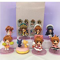 Figuras de Ação Anime Inspirado por Cardcaptor Sakura Sakura Kinomodo PVC 7 CM modelo Brinquedos Boneca de Brinquedo