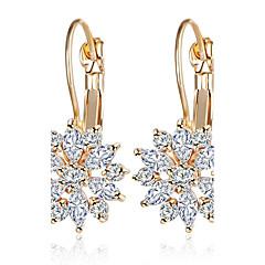 Damla Küpeler Mücevher alaşım Altın Gümüş Gül Mücevher Için Parti Günlük 1 çift