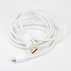 Mini DisplayPort DP to Display Port DP Converter Cable Male to Male Thunderbolt 1.8m/6 Ft HDMI Cables for MacBook Air Monitor