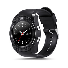 tanie Inteligentne zegarki-V8 Inteligentny zegarek Android Bluetooth Ekran dotykowy Odbieranie bez użycia rąk Kamera Śledzenie Odległość Krokomierze Krokomierz Pilot Monitor aktywności fizycznej Rejestrator aktywności / 0.3 MP