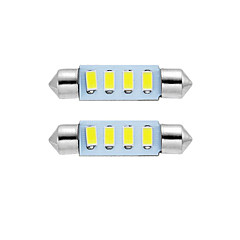 billige Interiørlamper til bil-2stk 39mm ledet girlander dome lys leselampe lisens plate lampe hvit