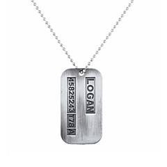 Муж. Ожерелья с подвесками Бижутерия В форме квадрата Сплав Уникальный дизайн С логотипом В виде подвески бижутерия Бижутерия Назначение