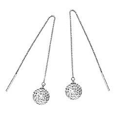 Damla Küpeler Kübik Zirconia Som Gümüş Gümüş Mücevher Için Düğün Parti Günlük 1 çift