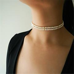 Dámské Obojkové náhrdelníky Sopečné sklo Geometric Shape Napodobenina perel SlitinaNapodobenina perel Módní Přizpůsobeno Euramerican
