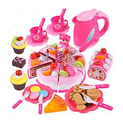 billiga Leksakskök och -mat-Toy köksutrustning Leksaksmat Låtsaslek Tårta Tårt- och kakskärare pvc Barn Pojkar Flickor Leksaker Present