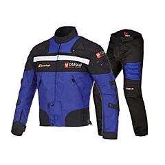 tanie Kurtki motocyklowe-DUHAN Ubrania motocyklowe Zestaw kurtek spodni na Włókienniczy Na każdy sezon Odporny / a na działanie wiatru