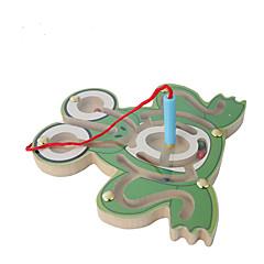 미로&순차 이동 퍼즐 미로 교육용 장난감 장난감 애니멀 평면 나무 카툰 조각 어린이날 선물