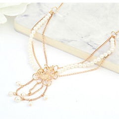 1Pcs Pearl Tassel Head Chain Headband Jewelry Women Layered Hair Accessories  Vintage  Hair