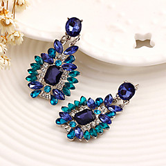Women's Drop Earrings Rhinestone Dangling Style Floral Alloy Flower Jewelry For Wedding Party