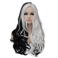 cheap Wigs & Hair Pieces-the european and american fashion daily double long curly hair party cos wig black and white 1408 Halloween