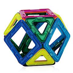 צעצועים מגנטיים אבני בניין בלוקים מגנטיים מגדיר בניין מגדיר 56 חתיכות צעצועים מגנט איכות גבוהה מגנטי ריבוע משולש יום הולדת יום הילד מתנות