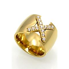 5ba640028ec1 Hombre Anillo anillo del pulgar Zirconia Cúbica Titanio Acero damas  Personalizado Geométrico Rock Doble capa Moda Anillos de Moda Joyas Dorado    Plata ...