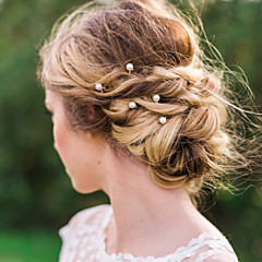 זול הד פיס למסיבות-דמוי פנינה סגסוגת סיכת שיער Stick השיער כלי לשיער כיסוי ראש