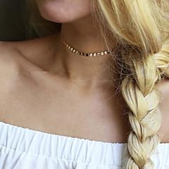 Dámské Obojkové náhrdelníky Šperky Round Shape Slitina Základní design Jedinečný design Módní bižuterie Šperky Pro Svatební Párty