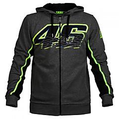 baratos Jaquetas de Motociclismo-vr46 motogp motorsport racing hoodie jacket black mens biker sweatshirt