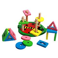 Bausteine Bildungsspielsachen Spielzeuge Zylinderförmig Stücke Kinder Geschenk