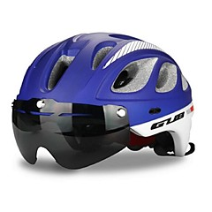 Bike Helmet Certification Cycling 20 Vents One Piece Helmet with Googles Visor Unisex PC EPS Cycling