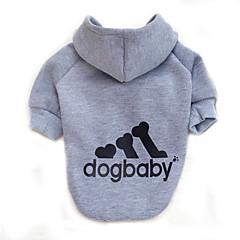 Gatti Cani Felpe con cappuccio Abbigliamento per cani Inverno Primavera/Autunno Lettere & Numeri Di tendenza SportivoGrigio Giallo Rosso