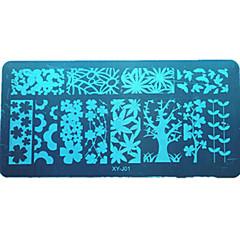 1PCS 다채로운&아름다운 디자인 DIY 패션 XY-j01-10 판 폴란드어 네일 도구 매니큐어 아름다움 스텐실을 스탬핑 플레이트 못 스테인레스 스틸 스탬핑