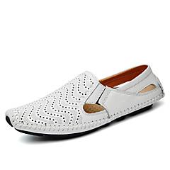 Homens Loafers de conforto Pele Napa Primavera / Verão / Outono Conforto Mocassins e Slip-Ons Caminhada Amarelo / Marron / Azul