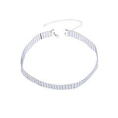 Dame Kroppsmykker Kroppskjede / Magekjede Mote Strass Geometrisk Form Sølv Smykker Til Avslappet 1 stk