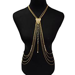 olcso -Női Testékszer Body Lánc / Belly Chain Divat Régies (Vintage) Bohemia stílus Gyöngyutánzat Ötvözet Geometric Shape Arany Ékszerek Mert