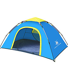 2 personer Telt Enkelt camping Tent Ett Rom Automatisk Telt Vanntett Vindtett Ultraviolet Motstandsdyktig Sammenleggbar Pusteevne til