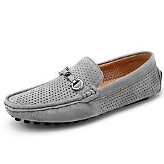 Homens Sapatos Confortáveis Couro de Porco Verão / Outono Casual Mocassins e Slip-Ons Cinzento / Azul / Khaki