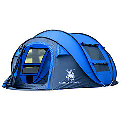 cheap Tents, Canopies & Shelters-HUILINGYANG 3-4 persons Tent Single Camping Tent One Room Pop up tent Waterproof Windproof Ultraviolet Resistant Foldable for Hiking