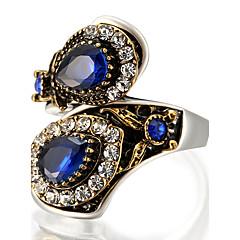 billige Motering-Dame Cluster Statement Ring Ring - Glass, Legering Statement, Personalisert, Luksus 7 / 8 / 9 / 10 Rød / Grønn / Blå Til Fest jubileum Bursdag