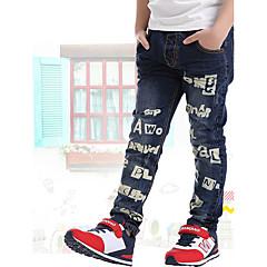 billige Drengebukser-Børn Drenge Skole / I-byen-tøj Trykt mønster Bomuld Jeans