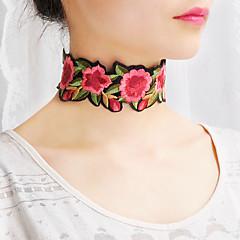 Mulheres Gargantilhas Colarinho colares cachecol Jóias Formato de Flor TecidoBásico Floral Estilo Boêmio Estilo bonito Confeccionada à