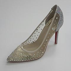 נשים-נעלי חתונה-נצנצים טול-נעלי מועדון--חתונה שמלה מסיבה וערב-עקב סטילטו