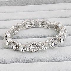 billige -Dame Tennisarmbånd Krystal Movie smykker Krystal Cirkelformet Smykker For Bryllup 1 sæt